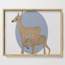 Deer Mother and Fawn Serving Tray