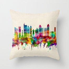 Manila Philippines Skyline Throw Pillow