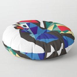 Polish Folk Rooster Floor Pillow