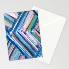 Modern Art Chevron Stationery Cards