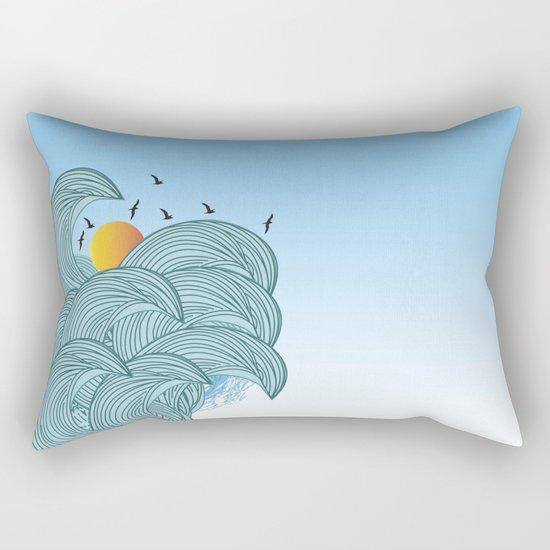 sea wave 4 Rectangular Pillow
