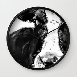 Black and White Cow - Dairy Cow - Farm Animal - Holstein Cow Wall Clock