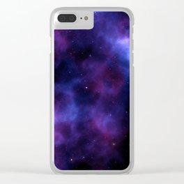 SELENE NEBULA Clear iPhone Case