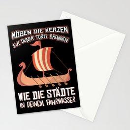 funny viking birthday t shirt for men Stationery Cards