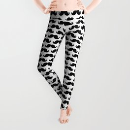 Mustache pattern Leggings