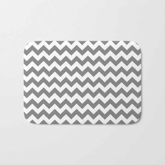 Chevron (Gray/White) Bath Mat