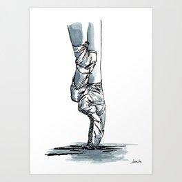 Ballet Dancer On Pointe Shoes 6 Art Print