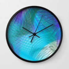 Pastel Teal Blue Violet Sweet Dream Abstract Wall Clock