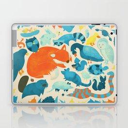 Wildlife Collage Woodland Creatures and Cute Animals Laptop & iPad Skin