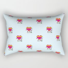 My heart goes faster for you pattern Rectangular Pillow