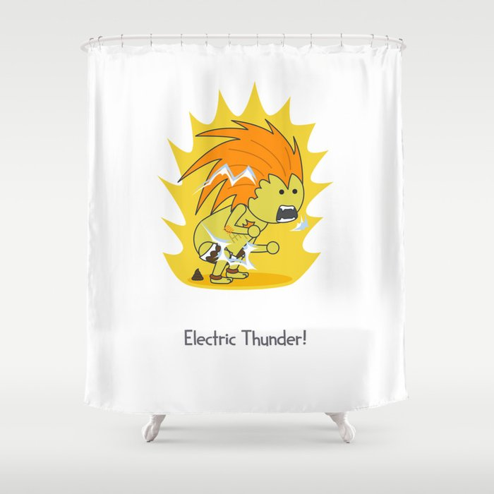 Electric Thunder! Shower Curtain