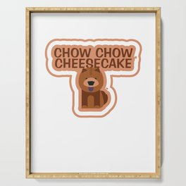 Chow-Chow Cheesecake Animal Pet Dog Lovers Serving Tray