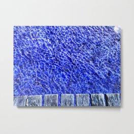 Water blue, Annecy Metal Print