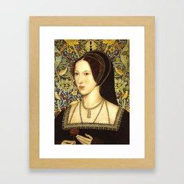 Queen Anne Boleyn Framed Art Print