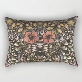 Tiger and flowers Rectangular Pillow