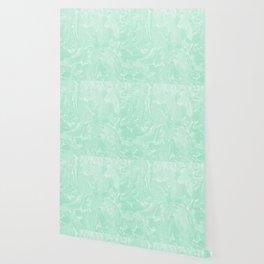 Pastel Mint Green Marble Minimalist Wallpaper