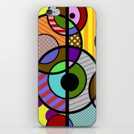 Patterned Retro - Geometric, Abstract Artwork iPhone Skin