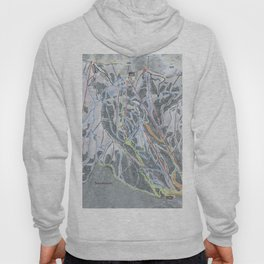 Snowbasin  Resort Trail Map Hoody