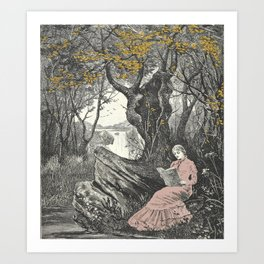 Sweet Bookish Solitude Art Print