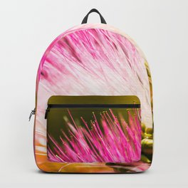 Exotic summer pink silk tree mimosa Backpack