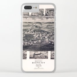 Bird's Eye View of Rising Sun, Maryland (1907) Clear iPhone Case