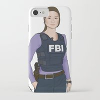 allison argent iPhone & iPod Cases featuring Special Agent Argent by Argent Arts