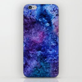 Watercolor space iPhone Skin