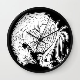 Round Rooster Wall Clock