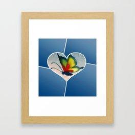 Butterfly Love - Blue Framed Art Print