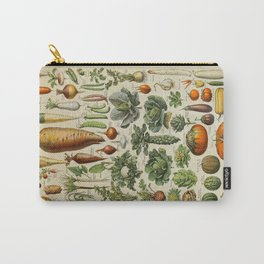 VEGETABLES Legumes Et Plantes Potageres Vintage Scientific Illustration French Language Encyclopedia Carry-All Pouch