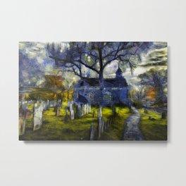 Sleepy Hollow Church Art Van Gogh Metal Print