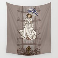 karen Wall Tapestries featuring Leia's Corruptible Mortal State by Karen Hallion Illustrations