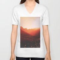 mars V-neck T-shirts featuring Mars. by Daniel Montero