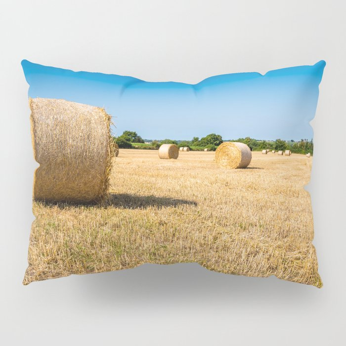 Hay bales in France Pillow Sham
