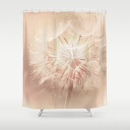 Pink Dandelion Flower - Floral Nature Photography Art and Accessories Shower Curtain