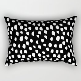 Handdrawn drops and dots on black-Mix & Match with Simplicty of life Rectangular Pillow