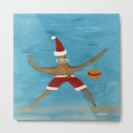 Christmas Starfish Metal Print