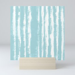 Shibori Stripe Seafoam Mini Art Print