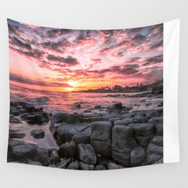 2016 Pink Kauai Sunset Wall Tapestry