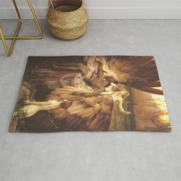 The Lament For Icarus By Herbert James Draper Rug