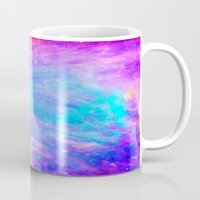 nebula Mugs featuring Orion nebulA : Bright Pink & Aqua by 2sweet4words Designs