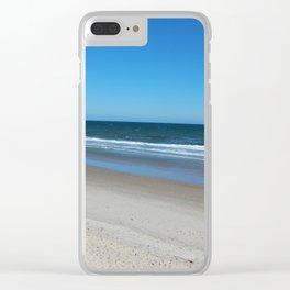 The Beach Awaits You Clear iPhone Case