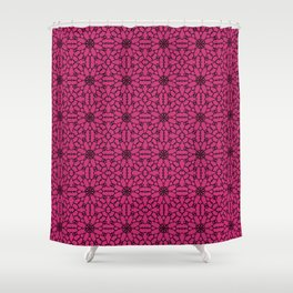 Pink Yarrow Lace Shower Curtain