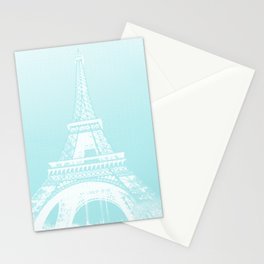 Eiffel tower by dots Stationery Cards