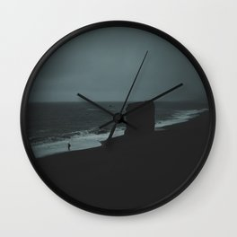 REYNISFJARA BLACK SAND BEACH / ICELAND Wall Clock