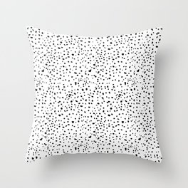 spotty dotty in black and white Throw Pillow