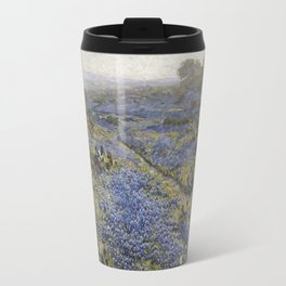 Julian Onderdonk - Field Of Texas Bluebonnets And Prickly Pear Cacti Travel Mug