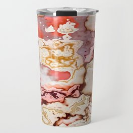pastel marble abstract digital art Travel Mug