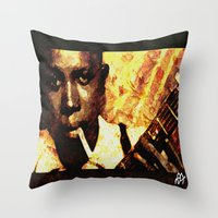 robert farkas Throw Pillows featuring Robert by Darla Designs