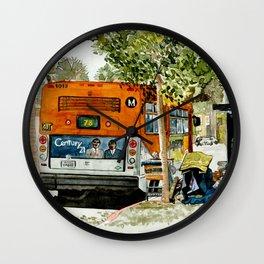 Homeless Series 5 ~ Sunset Blvd., Los Angeles, CA. Wall Clock